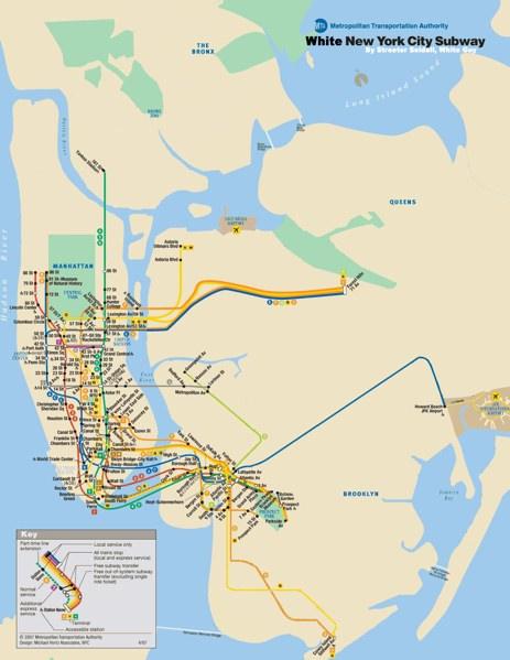 White New York City Subway Map Spoon Tamago