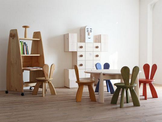 Yu watanabe for hiromatsu furniture spoon tamago for Stylish children s furniture