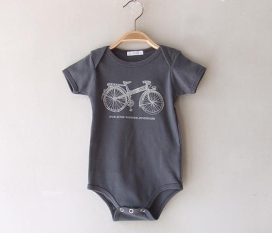 chigo onesie bike print
