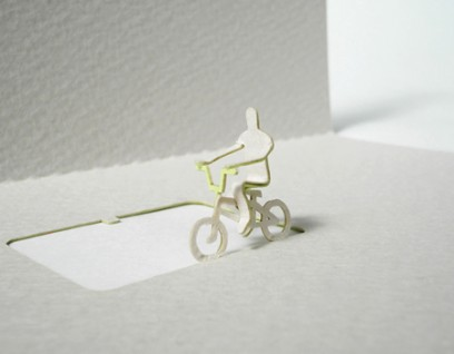 greeting cycle 02 408x318 Architectural Model Greeting Cards by  Terada Architects