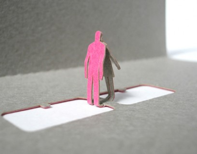 greeting kiss 02 408x318 Architectural Model Greeting Cards by  Terada Architects