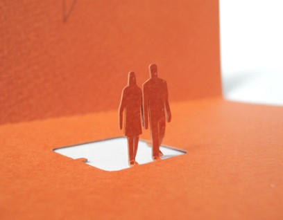 greeting together 02 408x318 Architectural Model Greeting Cards by  Terada Architects