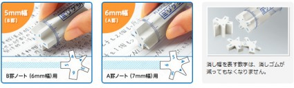 kokuyo milikeshi example 2 425x128 Kokuyo Milikeshi Eraser