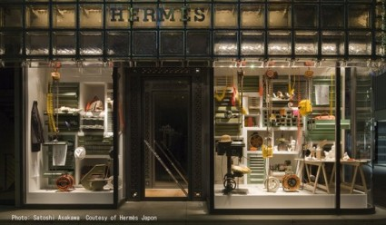 Maison Hermes Window Display By Paramodel Spoon Amp Tamago