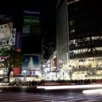 time lapse darkened tokyo