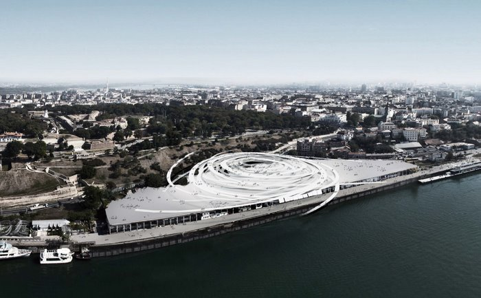 Sou Fujimoto\'s proposal for the Beton Hala Waterfront Center in ...