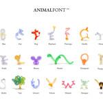 animal font a-z