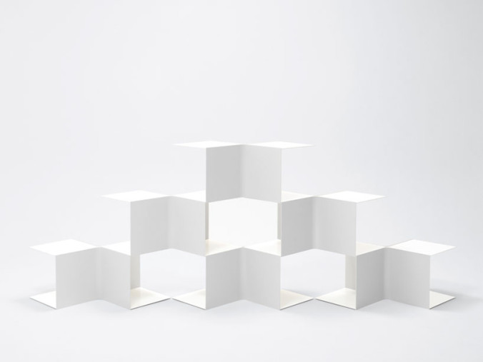 nendo square bookshelf 2