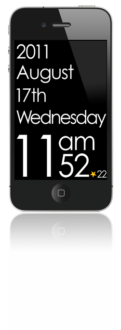 Typo Design Clock - iPhone
