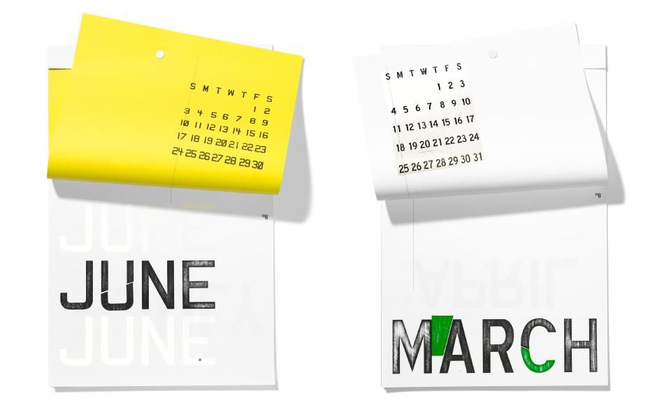 2012 calendar by dbros