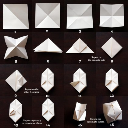 Paper Cube Instructions