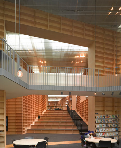 Musashino art university library by sou fujimoto spoon for U of m architecture