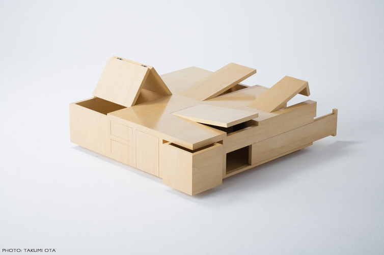 Table of secret compartments kai table by naoki hirakoso for 13 ka table