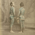Tattooed japanese men by Felice Beato