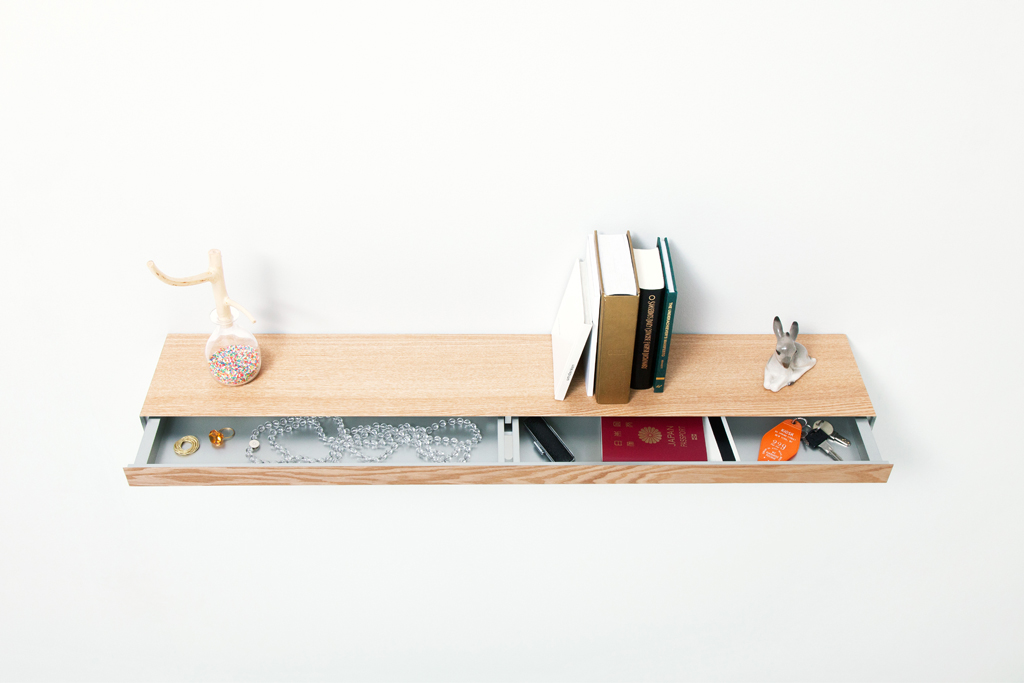 clopen a floating shelf that hides a secret drawer