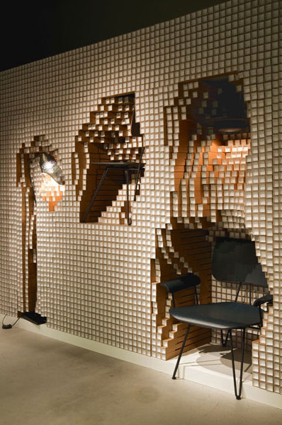 Interior Designer Furniture Installation Waiver ~ A modular wall made from paper pipes that