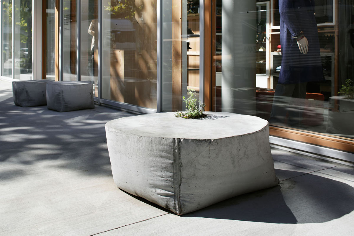 Concrete Outdoor Planter Bench