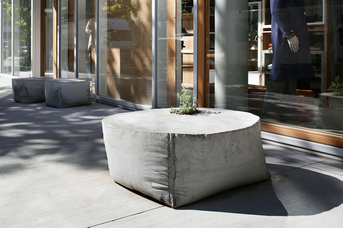 Concrete Outdoor Planter Bench