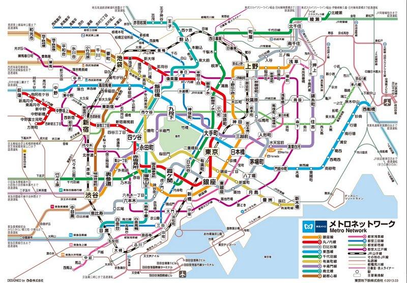 Tokyo Arteria A D Model Of Tokyos Underground Metro System - Tokyo japan 3d map