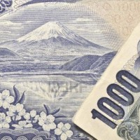 Fuji-detailed-image-of-mount-fuji-and-front-number-from-original-japanese-1000-yen-banknote