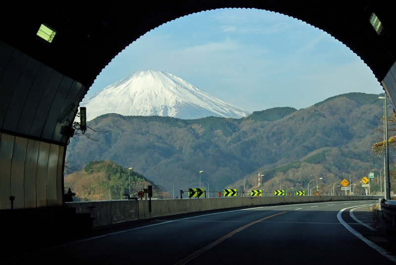 Fuji in frame - tsuburano tunnel