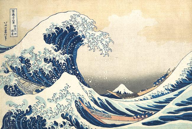 Fuji - the great wave at kanagawa katsushika hokusai