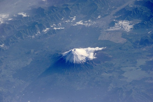 fuji from space