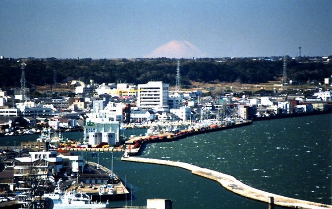 fuji from zushi port tower