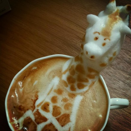 latte art giraffe