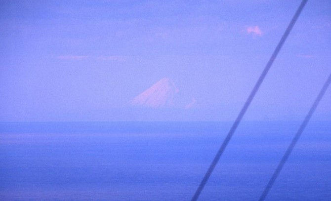 mt fuji from afar - zushi port tower