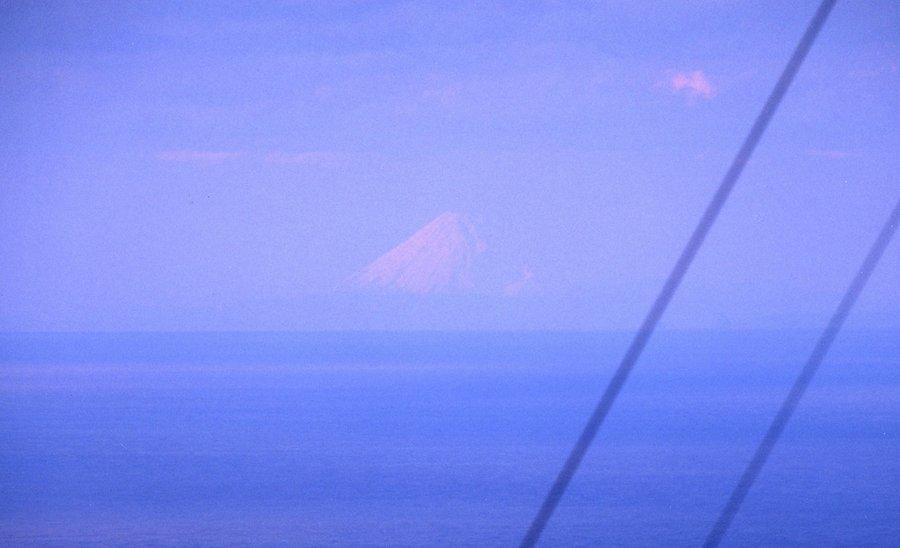 mt fuji from afar - zushi port tower