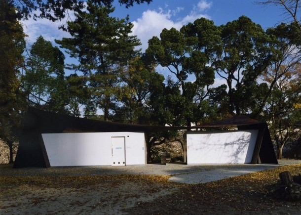 Japanese public restrooms - Halftecture O by Shuhei Endo 3