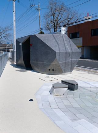 Japanese public restrooms - Kikuchi Pocket Park Restrooms by Takao Shiotsuka 2