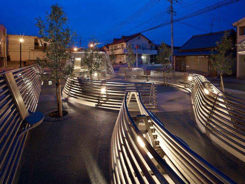 Japanese public restrooms - Kikuchi Pocket Park Restrooms by Takao Shiotsuka 5