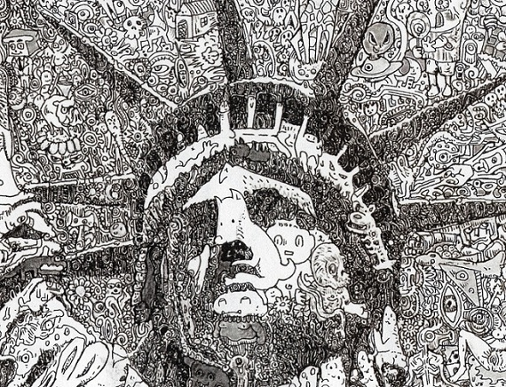 keita sagaki 2012 Statue of Liberty -  detail1