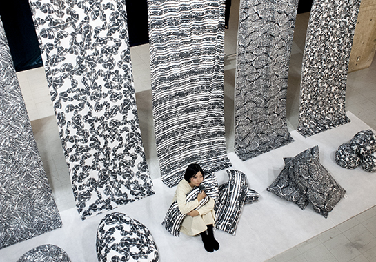 Textile Design Inspired By Slices Of Beef Spoon Amp Tamago