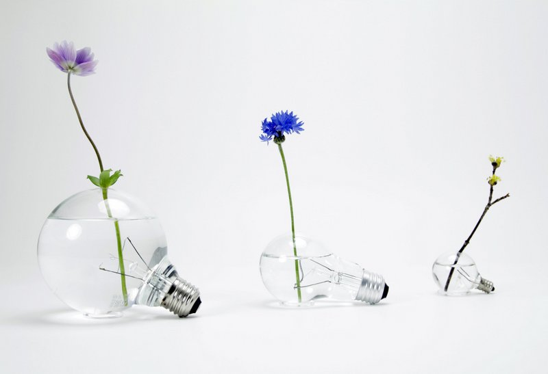 Light Bulb Flower Vases An Ode To An Obsolete Product Spoon Tamago
