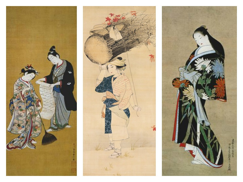 "Left and right: ""Mitate-Kanzan-zittoku"" (1765-70) 