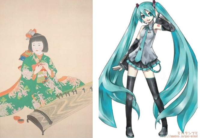"Left: ""Shichigosan"" by Meiji Hashimoto (1928) 