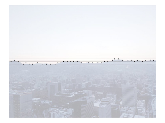 Landscapes and Cityscapes Rendered as Musical Notes by Koshi Kawachi