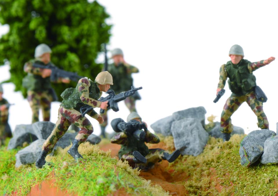 aginal battle-scene diorama
