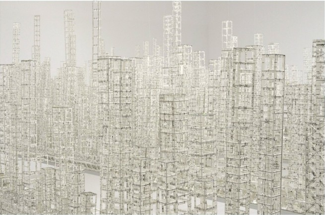 Void and Solid: Katsumi Hayakawa Explores Architectural Density With Floating Paper City