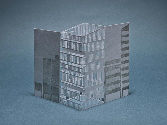 Porigami Laser-cut Popup Cards Tokyo