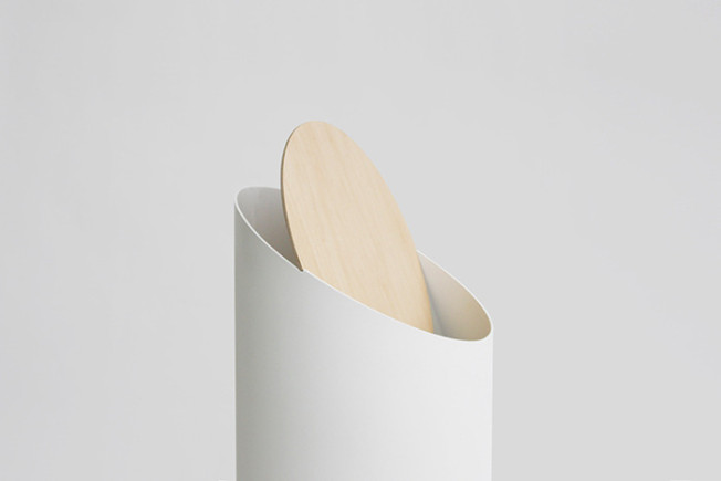 A Sculptural Minimalistic Trash Bin by Shigeichiro Takeuchi