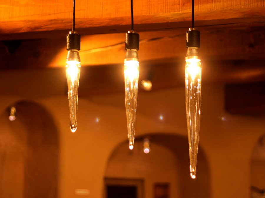 only 1 LED light bulbs icicle