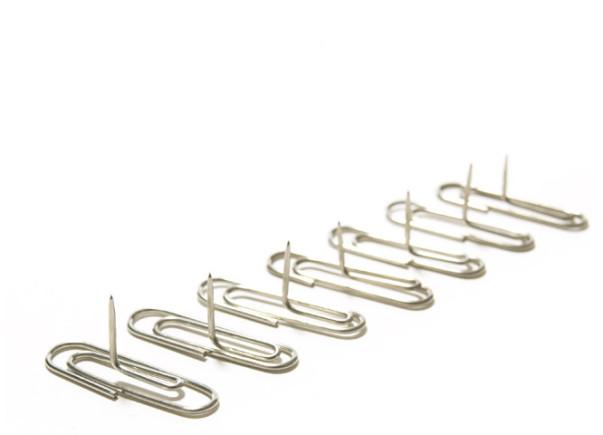 Paperclip Pushpins Designed by Yasunori Nagatsuka