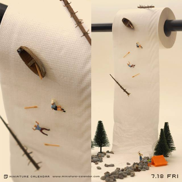 Artist Creates Miniature Dioramas Every Day Of The Year Spoon - Japanese artist creates fun miniature dioramas everyday for five years