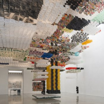 An Immersive Fortress of 30,000 Paper Kites by Jacob Hashimoto