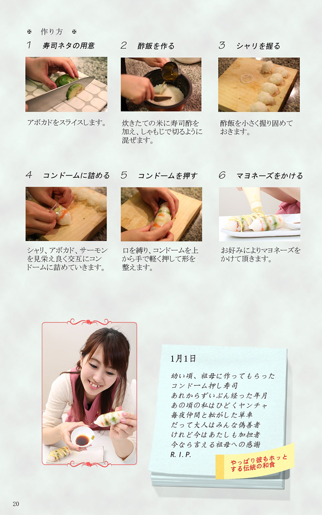 Japanese condom cookbook
