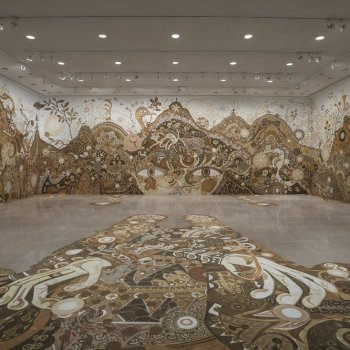 Yusuke Asai's Sprawling Mud Mural Comes to Houston, Texas